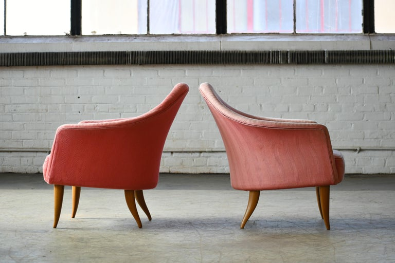 Mid-20th Century Pair of Midcentury Lounge Chairs Model