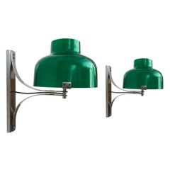 Pair of Midcentury Lucite Spanish Wall Sconces by Miguel Milá for Tramo, 1970s
