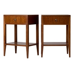 Pair of Midcentury Mahogany Bedside Tables