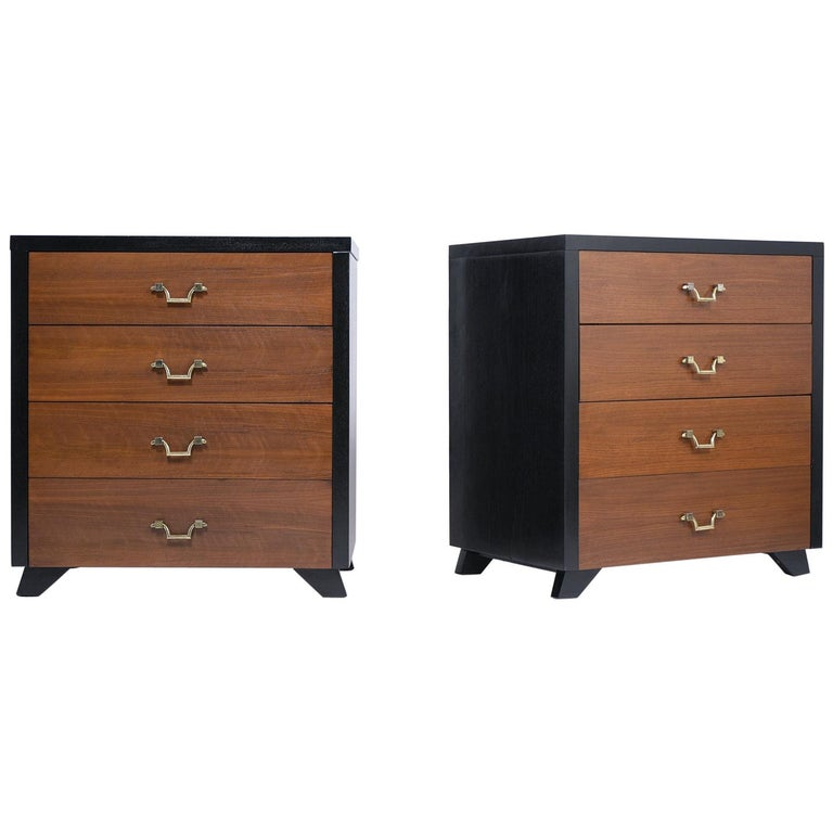 Pair of Mid-Century Mahogany Chest of Drawers For Sale