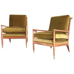 Pair of Midcentury Maple Lounge Chairs by John Stuart for Widdicomb