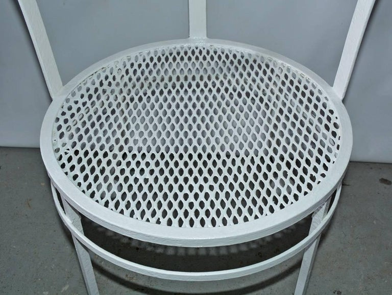 American Pair of Midcentury Metal Patio or Garden Chairs For Sale