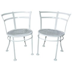Pair of Midcentury Metal Patio or Garden Chairs