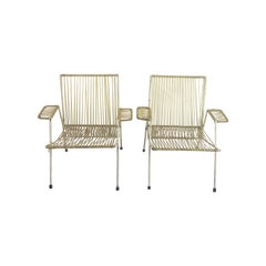 Pair of Midcentury Mexican Armchairs in the Style of Clara Porset