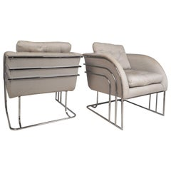 Pair of Midcentury Milo Baughman Lounge Chairs