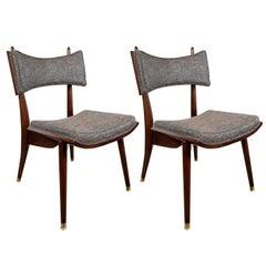 Pair of Midcentury Modern Klismos Side Chairs by Harold Schwartz for Romweber