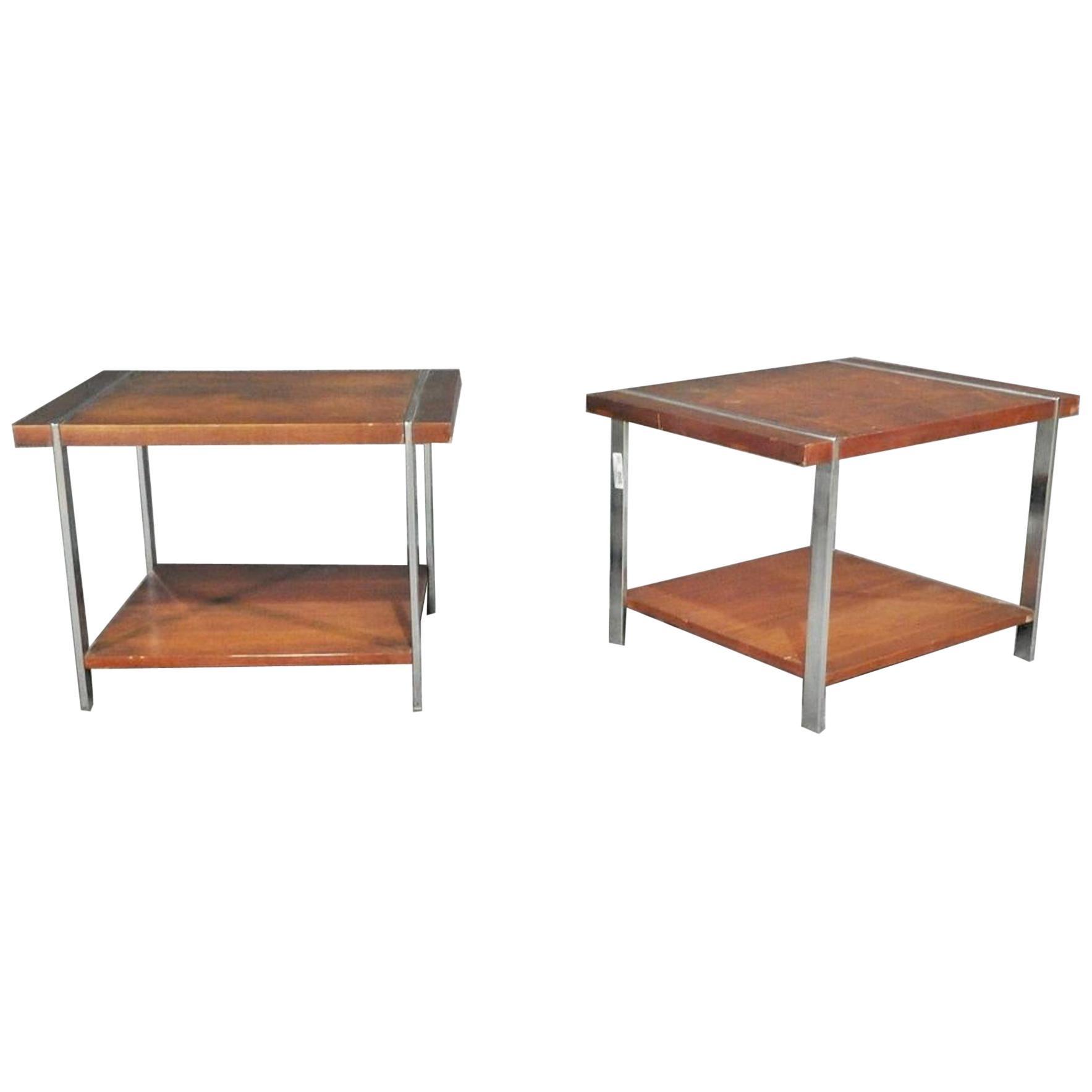 Pair of Midcentury Modern Side Tables