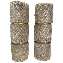 Pair of Midcentury Murano Glass Sconces