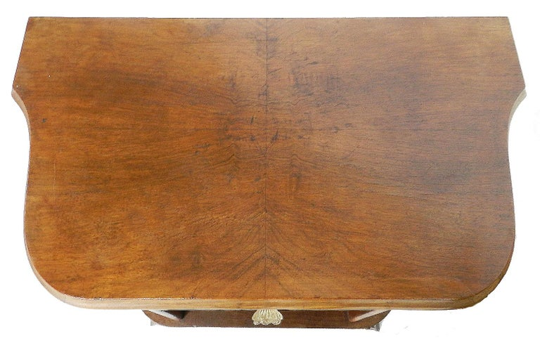 Mid-Century Modern Pair of Midcentury Nightstands French Side Cabinets Bedside Tables Walnut For Sale