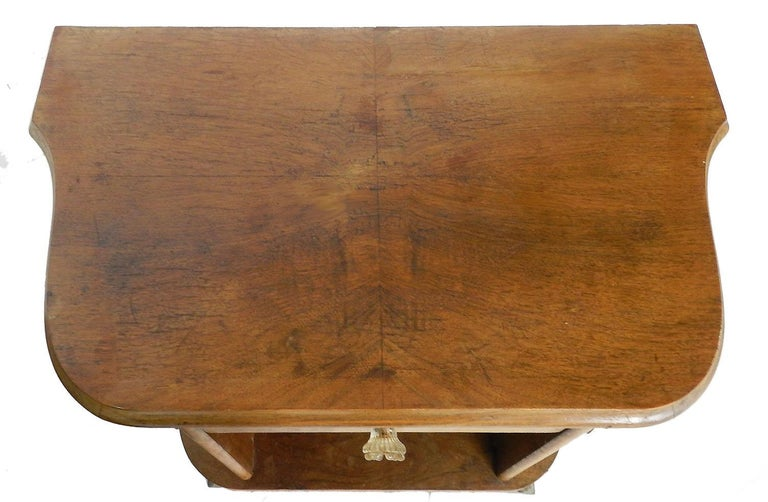 Pair of Midcentury Nightstands French Side Cabinets Bedside Tables Walnut In Good Condition For Sale In , South West France