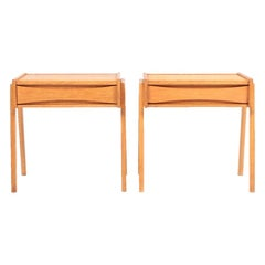 Pair of Midcentury Nightstands in Oak, Danish Design, 1960s