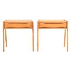 Pair of Midcentury Nightstands in Oak, Danish Design, 1960s