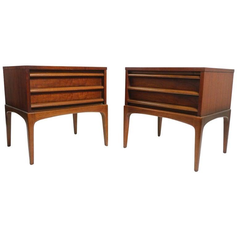 Pair of Midcentury Nightstands Rhythm by Lane Furniture