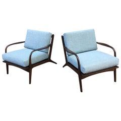 Pair of Midcentury Open Armchairs