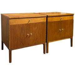 Pair of Midcentury Paul McCobb for Directional Nightstands Cabinets Walnut