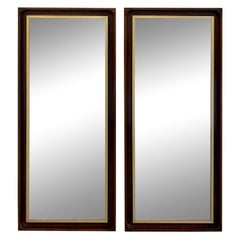 Pair of Midcentury Paul McCobb H. Sacks Solid Walnut Wall Mirrors