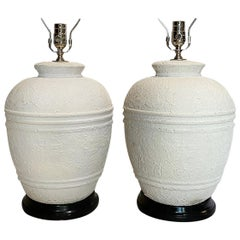 Pair of Midcentury Plaster Table Lamps