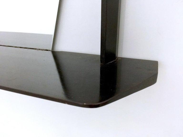 Pair of Midcentury Rectangular Black Ebonized Wood Wall Mirrors, Italy, 1960s 6