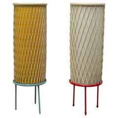 Pair of Midcentury Rocket Table Lamps by Josef Hůrka for Napako, 1960s, Czech