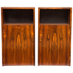 Pair of Midcentury Rosewood Bedside Cabinets