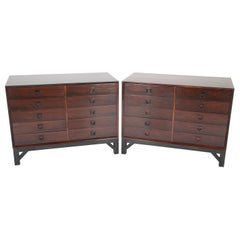 Pair of Midcentury Rosewood Chests on Stands in the Style of Svend Langkilde