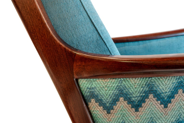 Pair of Midcentury Rosewood Highback Easy Chairs by Ole Wanscher for P.Jeppesen In Good Condition For Sale In Porto, Porto