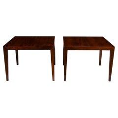 Pair of Midcentury Rosewood Side Tables by Severin Hansen, c.1960