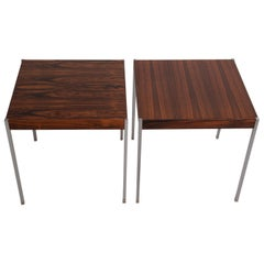 Pair of Midcentury Rosewood Side Tables by Uno & Östen Kristiansson for Luxus