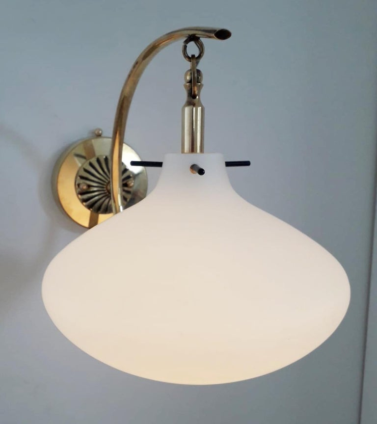 Mid-Century Modern Pair of Midcentury Sconces by Stilnovo For Sale