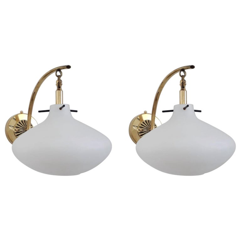 Pair of Midcentury Sconces by Stilnovo For Sale