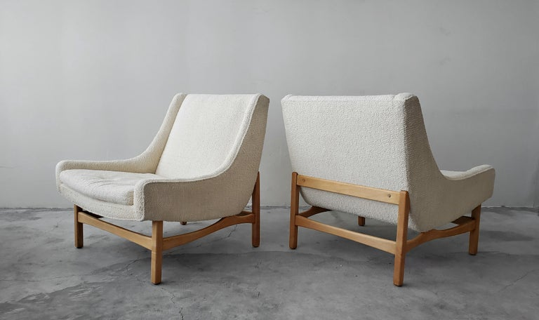 If you're looking for a great pair of midcentury lounge chairs, with the most amazing lines, look no further. These chairs are absolutely stunning from Every Angle.