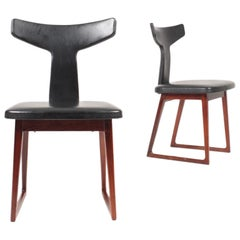 Pair of Midcentury Side Chairs in Rosewood by Sibast, Danish Design, 1960s