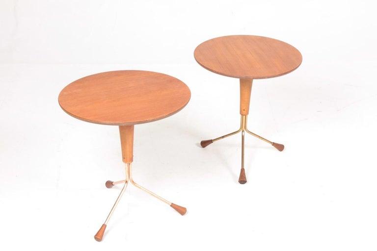 Scandinavian Modern Pair of Midcentury Side Tables by Albert Larsson, 1960s