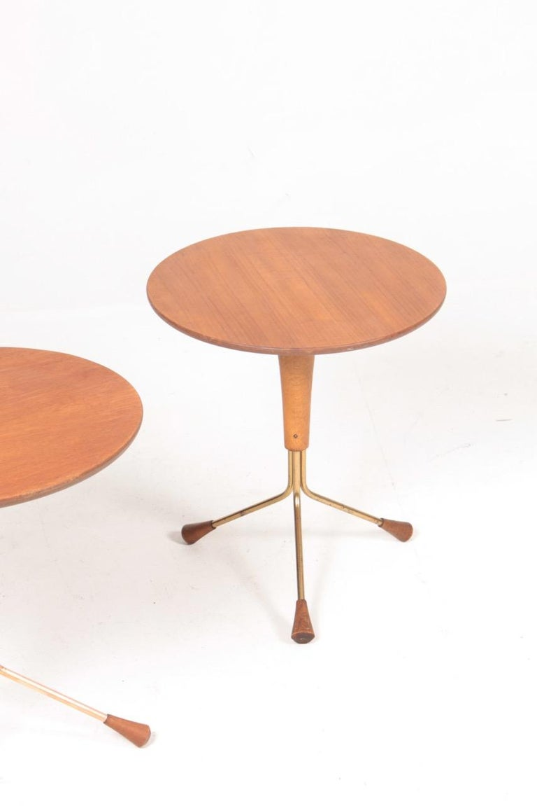 Swedish Pair of Midcentury Side Tables by Albert Larsson, 1960s