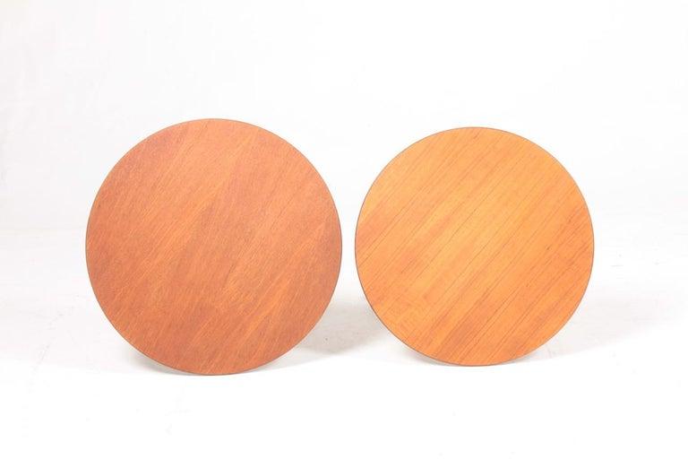 Teak Pair of Midcentury Side Tables by Albert Larsson, 1960s
