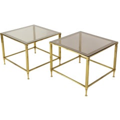 Pair of Midcentury Side Tables by Maison Jansen, France, 1950s