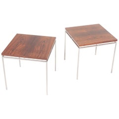Pair of Midcentury Side Tables in Rosewood by Knud Joos, Danish Design, 1960s