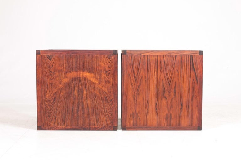 Pair of Midcentury Side Tables in Rosewood Designed by Aksel Kjærsgaard, 1960s In Good Condition For Sale In Lejre, DK