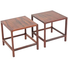 Pair of Midcentury Side Tables in Rosewood Designed by Aksel Kjærsgaard, 1960s