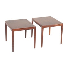 Pair of Midcentury Side Tables in Rosewood, Made in Denmark, 1960s