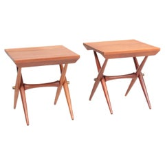 Pair of Midcentury Side Tables in Solid Teak, by Jens Quistgaard, 1960s