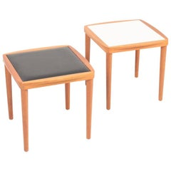 Pair of Midcentury Side Tables in Teak, Made in Denmark, 1960s