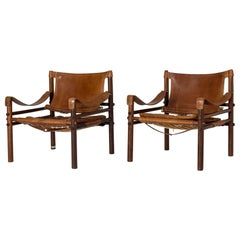 "Pair of Midcentury ""Sirocco"" Lounge Chairs by Arne Norell"