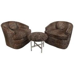Pair of Midcentury Swivel Tub Chairs by Henredon