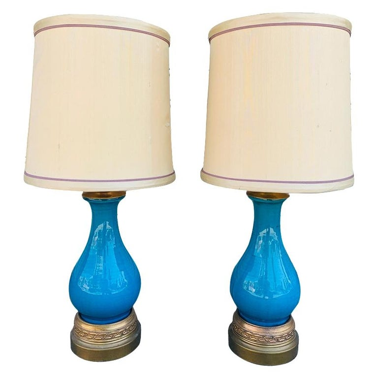 Pair of Midcentury Table Lamps attb to Bitossi For Sale