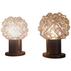 Pair of Midcentury Table Lamps, Kamenicky Senov, 1970s