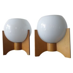 Pair of Midcentury Table Lamps, Rockets, 1970s
