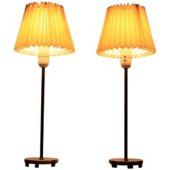 Pair of Midcentury Table or Desk Lamps Falkenbergs Belysnings, Sweden, 1970s