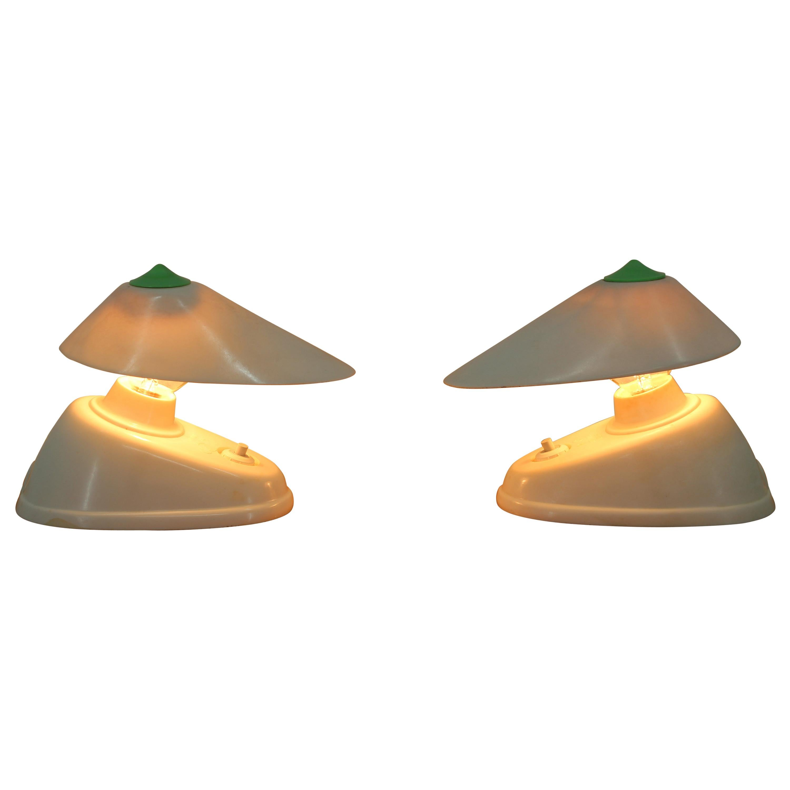 Pair of Midcentury Table or Wall Lamps, 1960s