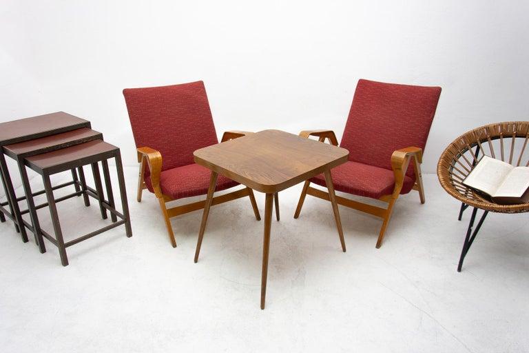 Mid-Century Modern Pair of Midcentury Tatra Bentwood Armchairs, Czechoslovakia, 1960s For Sale